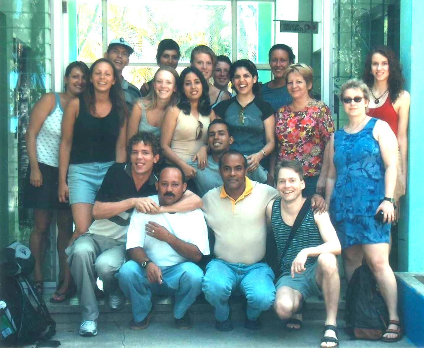 El colectivo de trabajo con un grupo de estudiantes de ELE